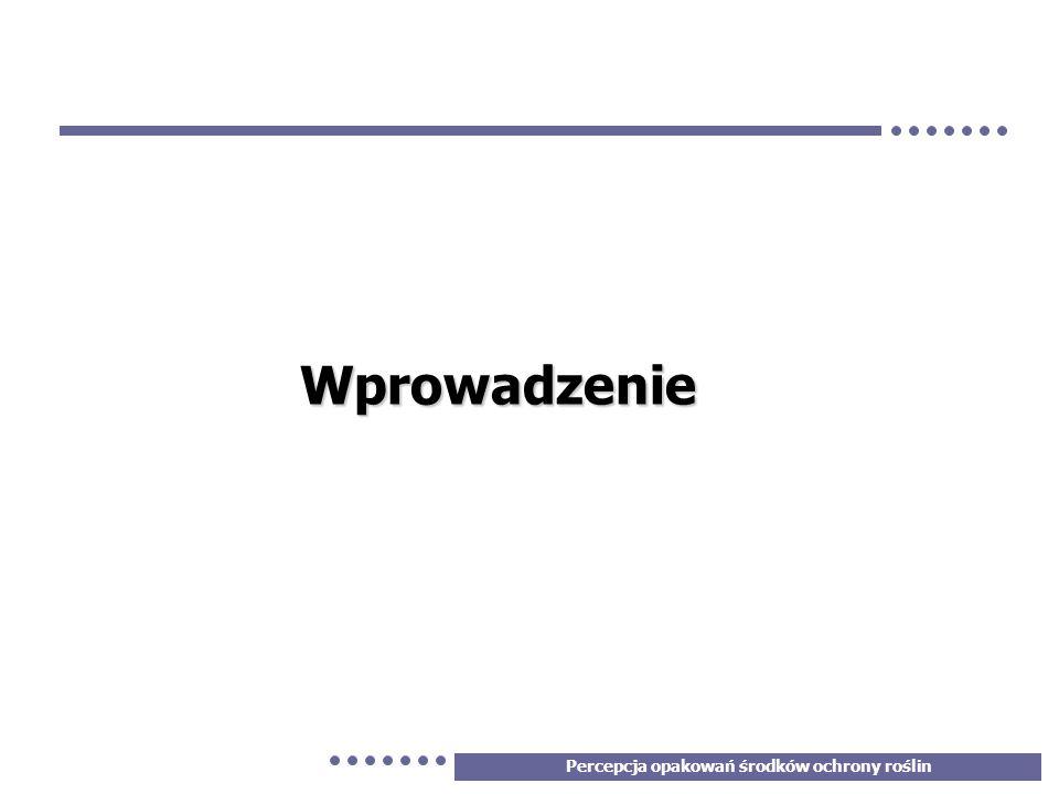 4 Cele badania W dniu 24 listopada 2005 roku na zlecenie Polskiego Stowarzyszenia Ochrony Roślin przeprowadzono badanie jakościowe, którego celem było zbadanie percepcji opakowań środków ochrony roślin w kontekście ich podobieństwa do produktów spożywczych.