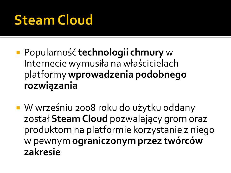 Popularność technologii chmury w Internecie wymusiła na właścicielach platformy wprowadzenia podobnego rozwiązania W wrześniu 2008 roku do użytku odda