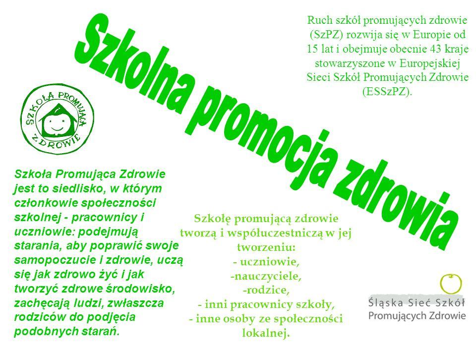 Ruch szkół promujących zdrowie (SzPZ) rozwija się w Europie od 15 lat i obejmuje obecnie 43 kraje stowarzyszone w Europejskiej Sieci Szkół Promujących