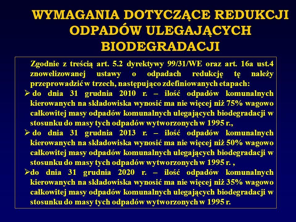 Zgodnie z zapisami rozporządzenia Ministra Gospodarki i Pracy z dnia 7 września 2005 r.