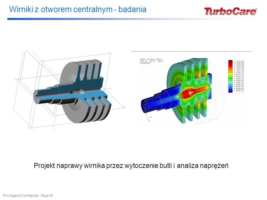 Wirniki z otworem centralnym - badania Privileged & Confidential - Page 18 Projekt naprawy wirnika przez wytoczenie butli i analiza naprężeń