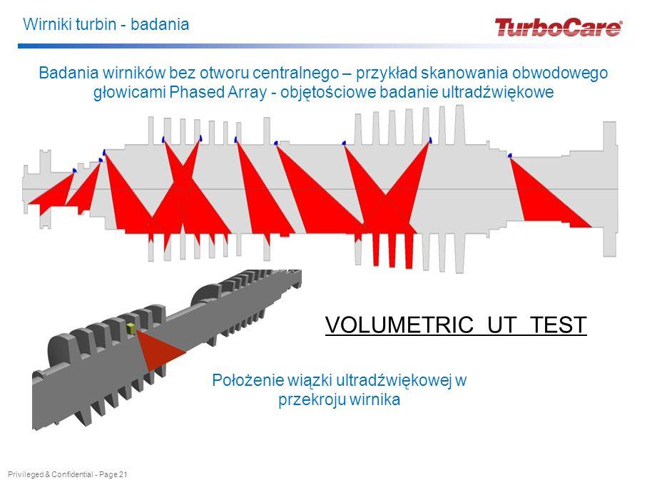 Wirniki turbin - badania Privileged & Confidential - Page 21 Badania wirników bez otworu centralnego – przykład skanowania obwodowego głowicami Phased