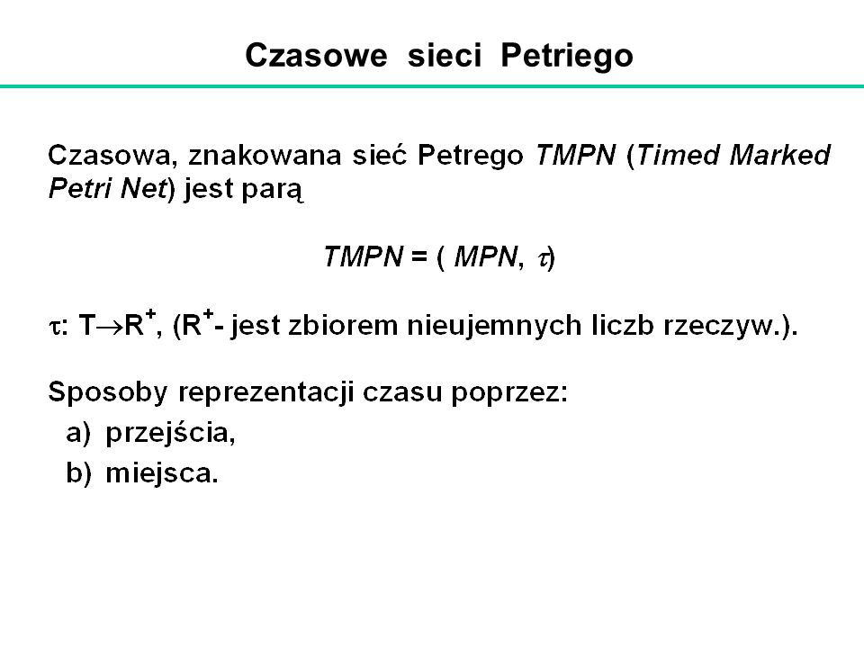 Czasowe sieci Petriego