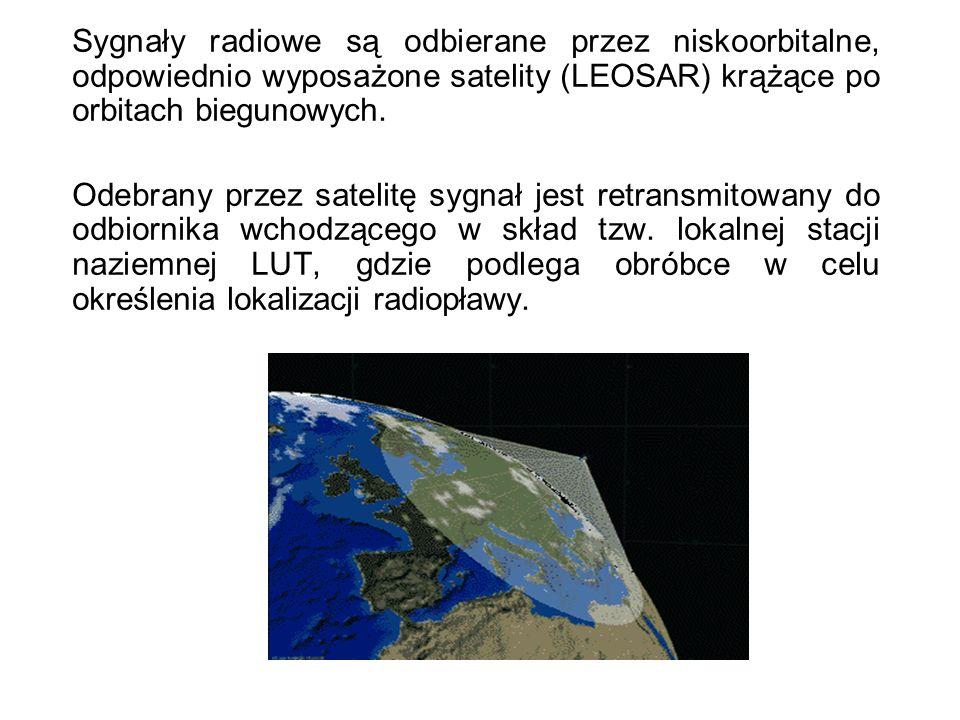 Sygnały radiowe są odbierane przez niskoorbitalne, odpowiednio wyposażone satelity (LEOSAR) krążące po orbitach biegunowych. Odebrany przez satelitę s