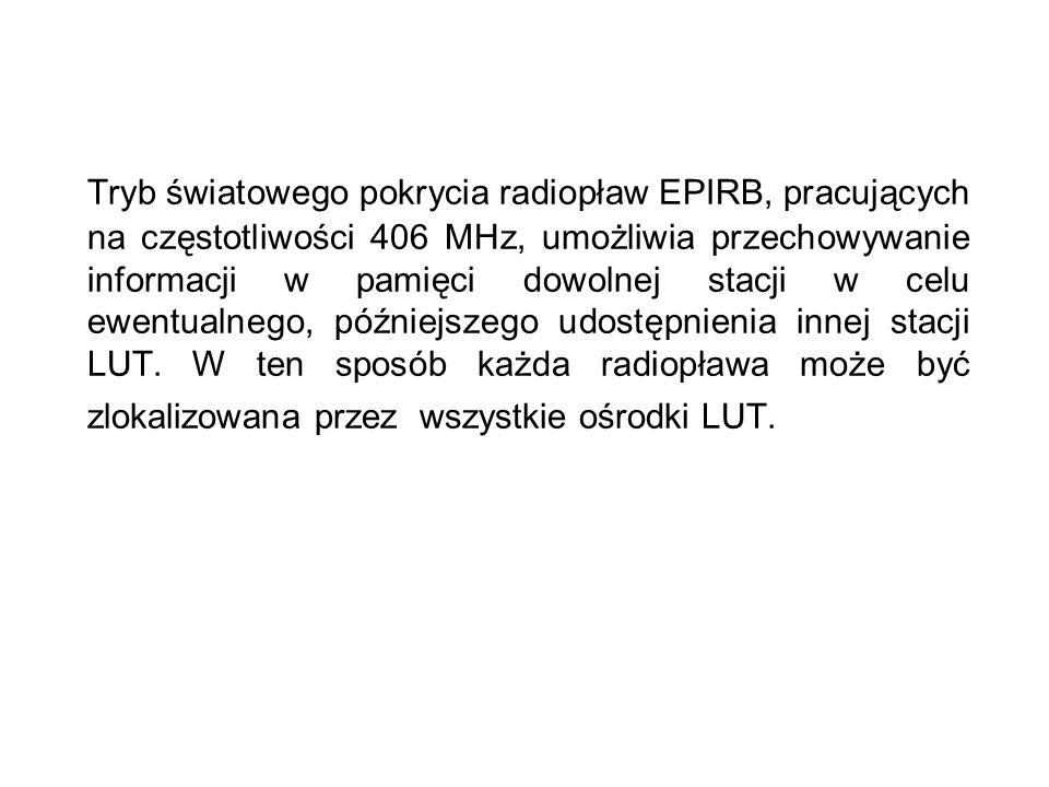 Tryb światowego pokrycia radiopław EPIRB, pracujących na częstotliwości 406 MHz, umożliwia przechowywanie informacji w pamięci dowolnej stacji w celu