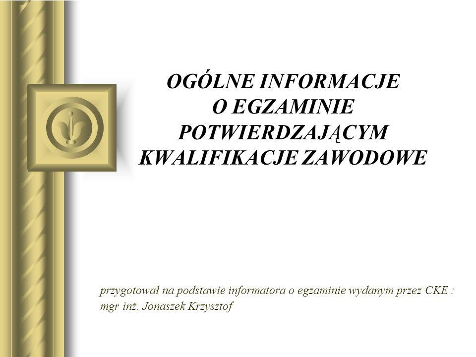 Zadanie egzaminacyjne wraz z dokumentacją do jego wykonania zamieszczone jest w arkuszu egzaminacyjnym.