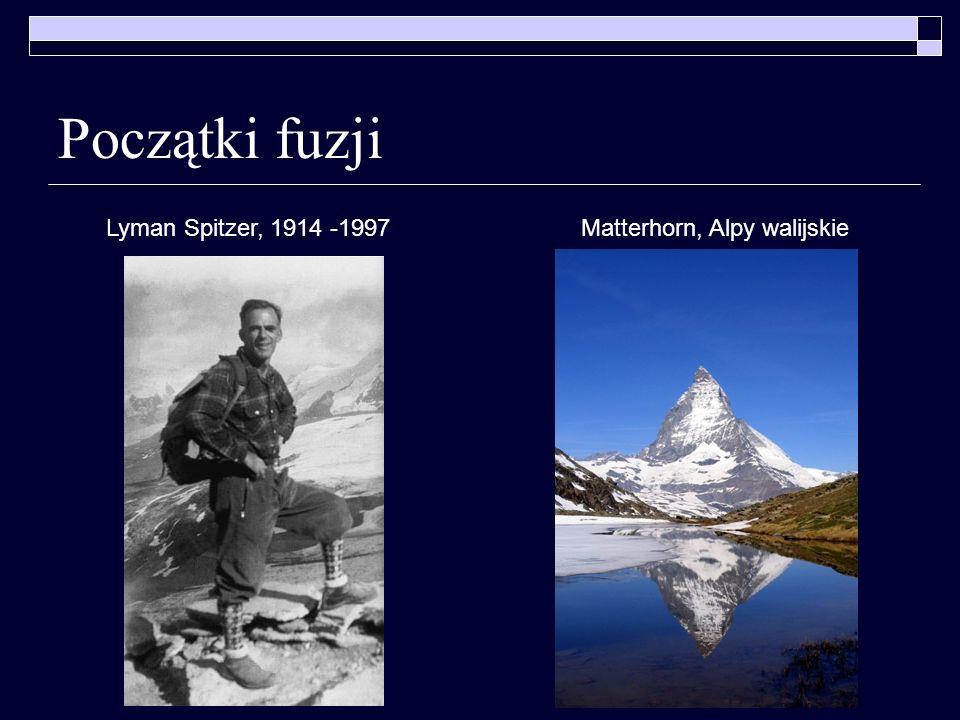 Początki fuzji Matterhorn, Alpy walijskieLyman Spitzer, 1914 -1997