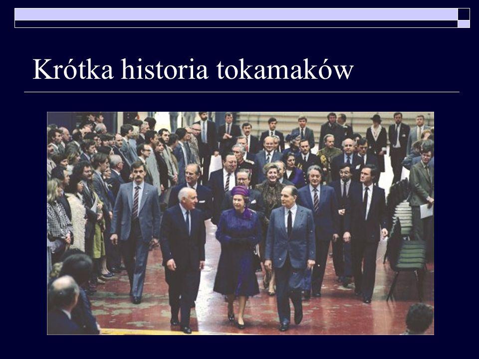 Krótka historia tokamaków 1973 – decyzja o budowie JETa 1983 – JET zaczyna działać pod auspicjami EURATOMu … (ciąg dalszy nastąpi)