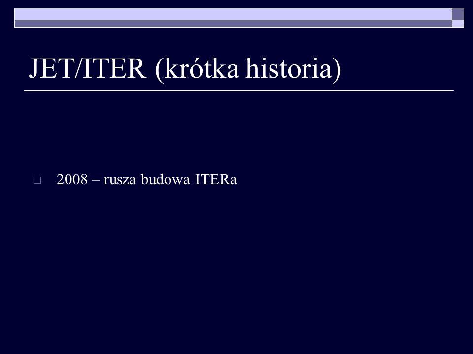JET/ITER (krótka historia) 2008 – rusza budowa ITERa