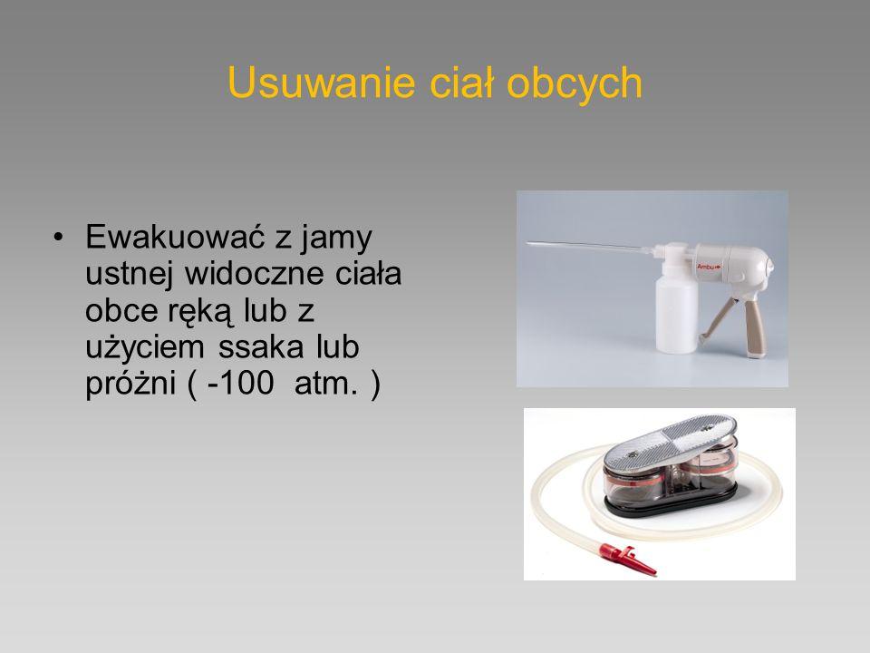 Podsumowanie U nieprzytomnych należy udrożnić drogi oddechowe pomagając sobie rurką ustno- gardłową, nosowo-gardłową i LMA Wentylujemy workiem samorozprężalnym starając uzyskać maksymalnie stężenie tlenu stosując rezerwuar i źródło tlenu Intubacja dotchawicza jest złotym standardem i pozwala nie przerywać ucisków klatki piersiowej w trakcie RKO ( resuscytacja asynchroniczna ) U przytomnych - natlenianie bierne