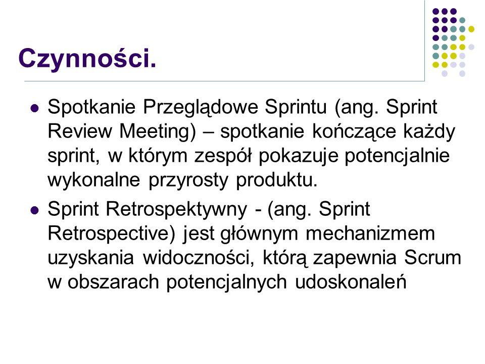 Spotkanie Przeglądowe Sprintu (ang. Sprint Review Meeting) – spotkanie kończące każdy sprint, w którym zespół pokazuje potencjalnie wykonalne przyrost