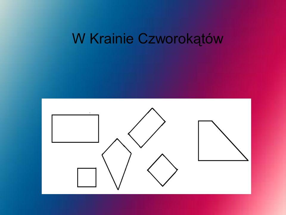 Kwadrat Kwadrat ma cztery boki czyli czworobok o czterech przystających bokach (a stąd równej długości) i tyluż przystających kątach wewnętrznych (a stąd prostych).