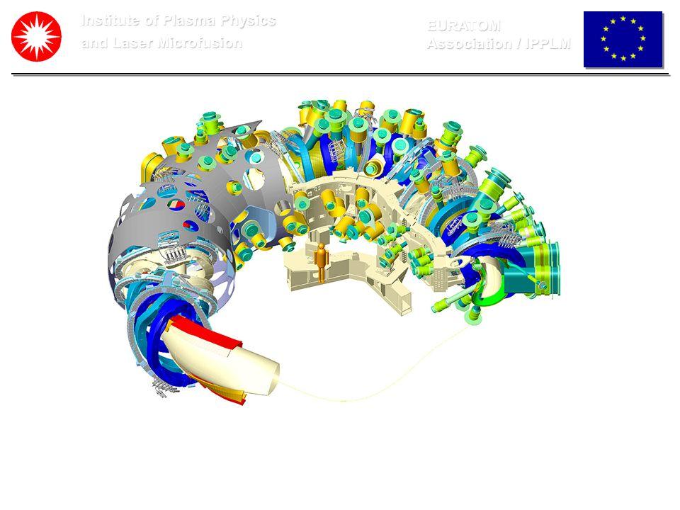 Institute of Plasma Physics and Laser Microfusion EURATOM Association / IPPLM plazma pinhole detektor zespół detektorow lub CCD Geometria pomiarów promieniowania X Strumień promieniowania X padający na detektor zależy od średnicy pinhola.