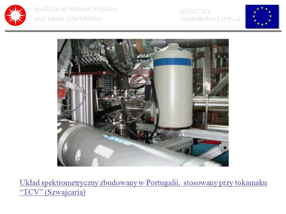 Institute of Plasma Physics and Laser Microfusion EURATOM Association / IPPLM Układ spektrometryczny zbudowany w Portugalii, stosowany przy tokamaku T
