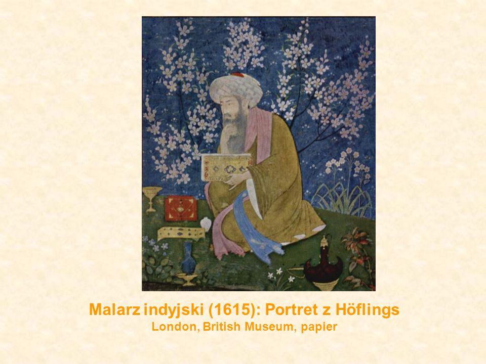 Malarz indyjski (1615): Portret z Höflings London, British Museum, papier