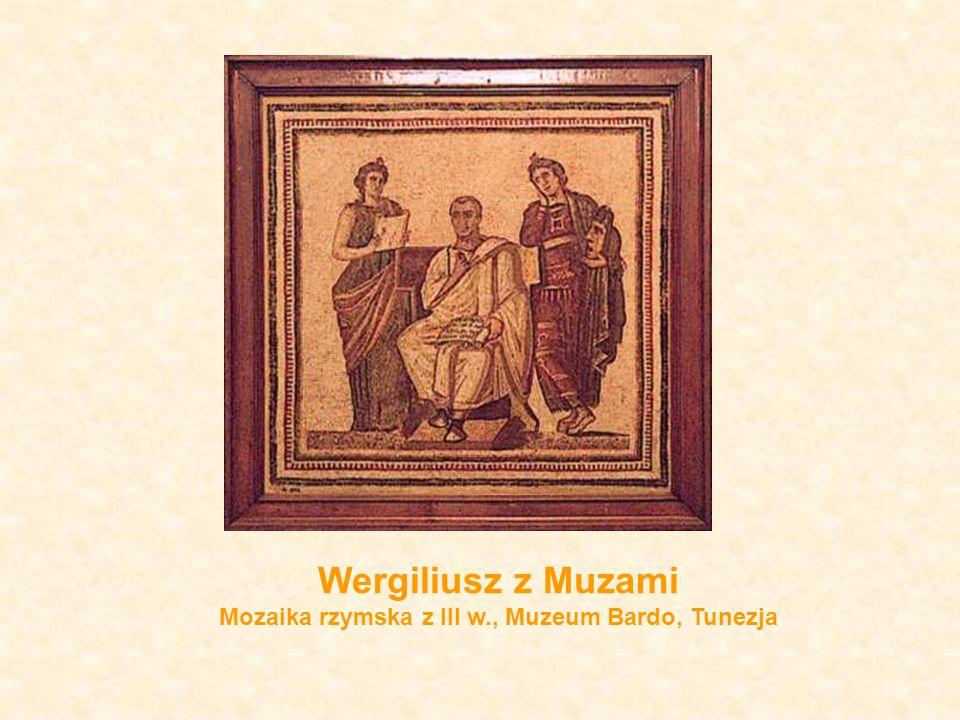 Wergiliusz z Muzami Mozaika rzymska z III w., Muzeum Bardo, Tunezja