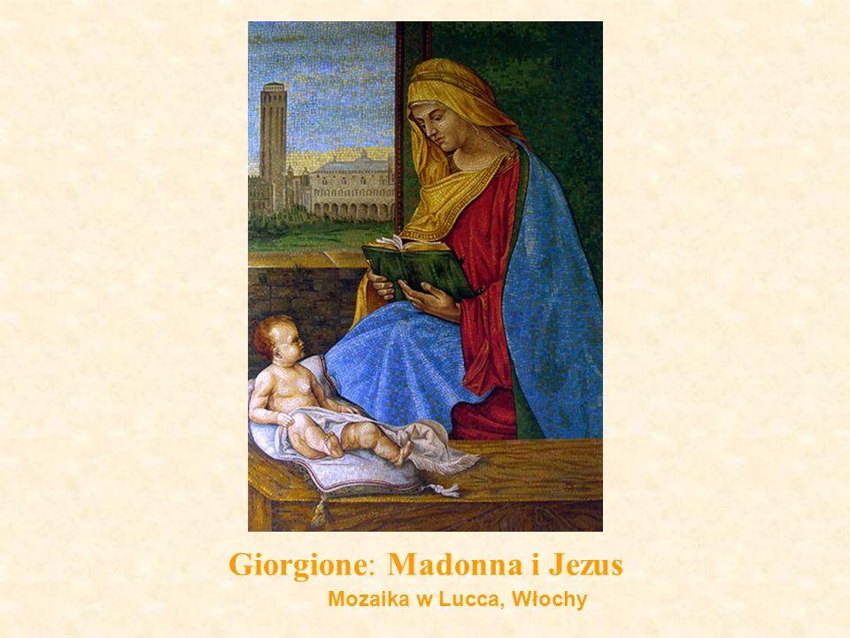 Giorgione: Madonna i Jezus Mozaika w Lucca, Włochy