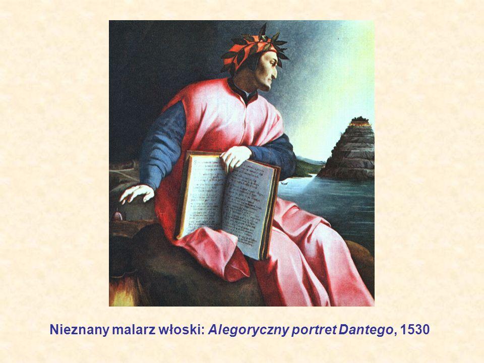 Nieznany malarz włoski: Alegoryczny portret Dantego, 1530