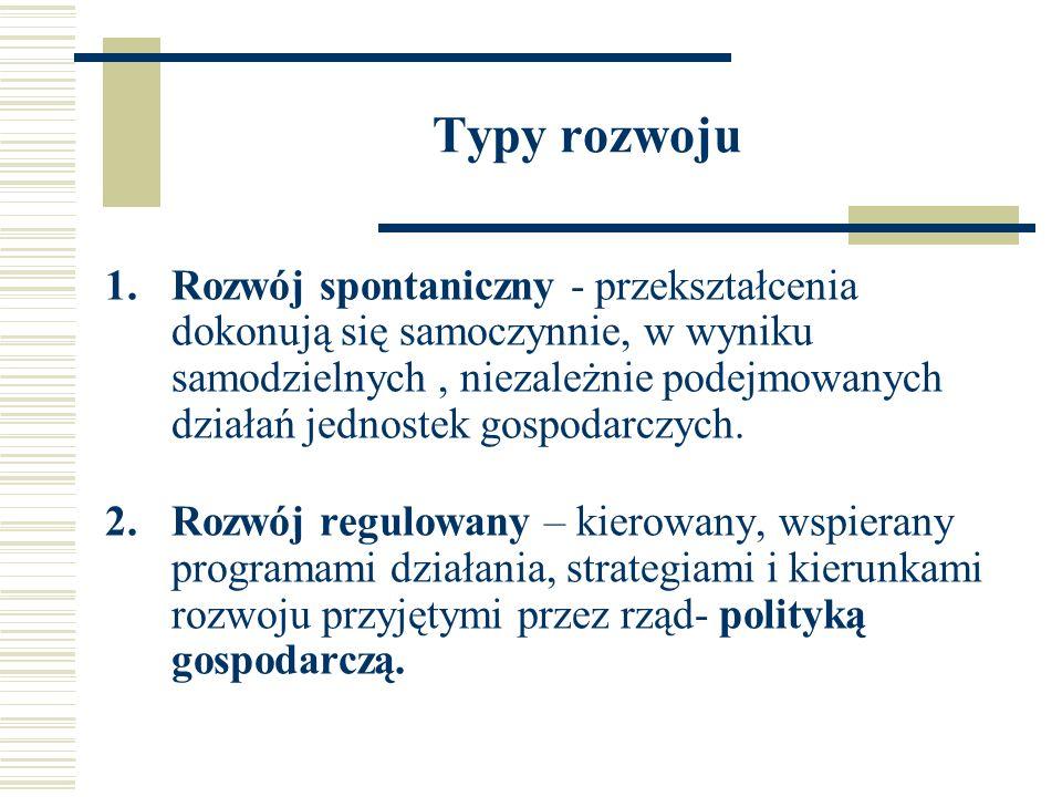 Mierniki wzrostu i rozwoju gospodarczego Syntetyczne Szczegółowe Symptomatyczne