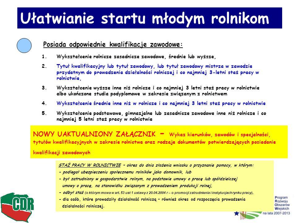 Ułatwianie startu młodym rolnikom Kiedy należy spełnić podstawowe wymagania !!!!!.