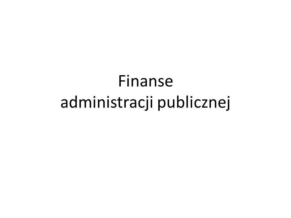 Finanse administracji publicznej