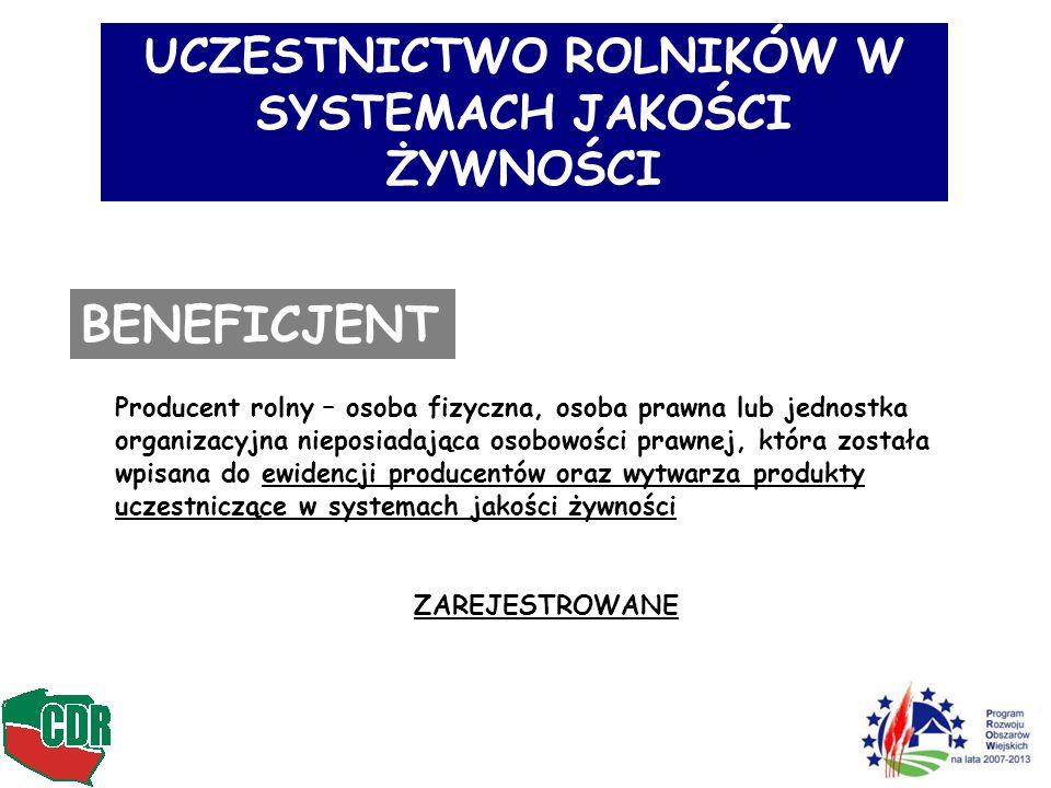 UCZESTNICTWO ROLNIKÓW W SYSTEMACH JAKOŚCI ŻYWNOŚCI Jak to będzie funkcjonowało w IP Maksymalna kwota wsparcia – 2.750 PLN/rok/gosp.