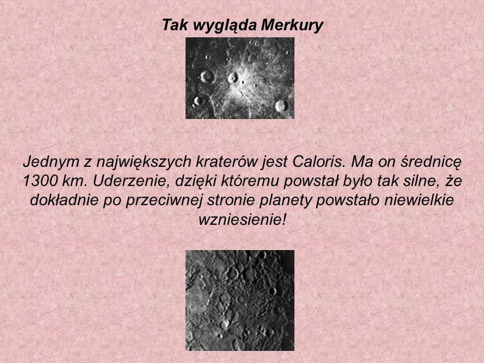 Tak wygląda Merkury Jednym z największych kraterów jest Caloris.