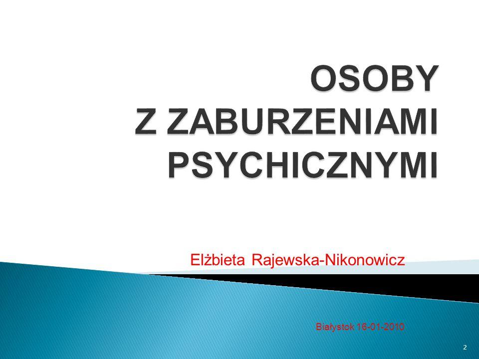 Elżbieta Rajewska-Nikonowicz Białystok 16-01-2010 2
