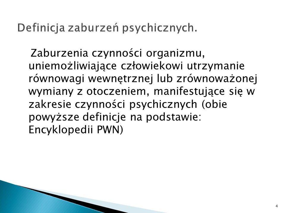 Zaburzenia czynności organizmu, uniemożliwiające człowiekowi utrzymanie równowagi wewnętrznej lub zrównoważonej wymiany z otoczeniem, manifestujące si