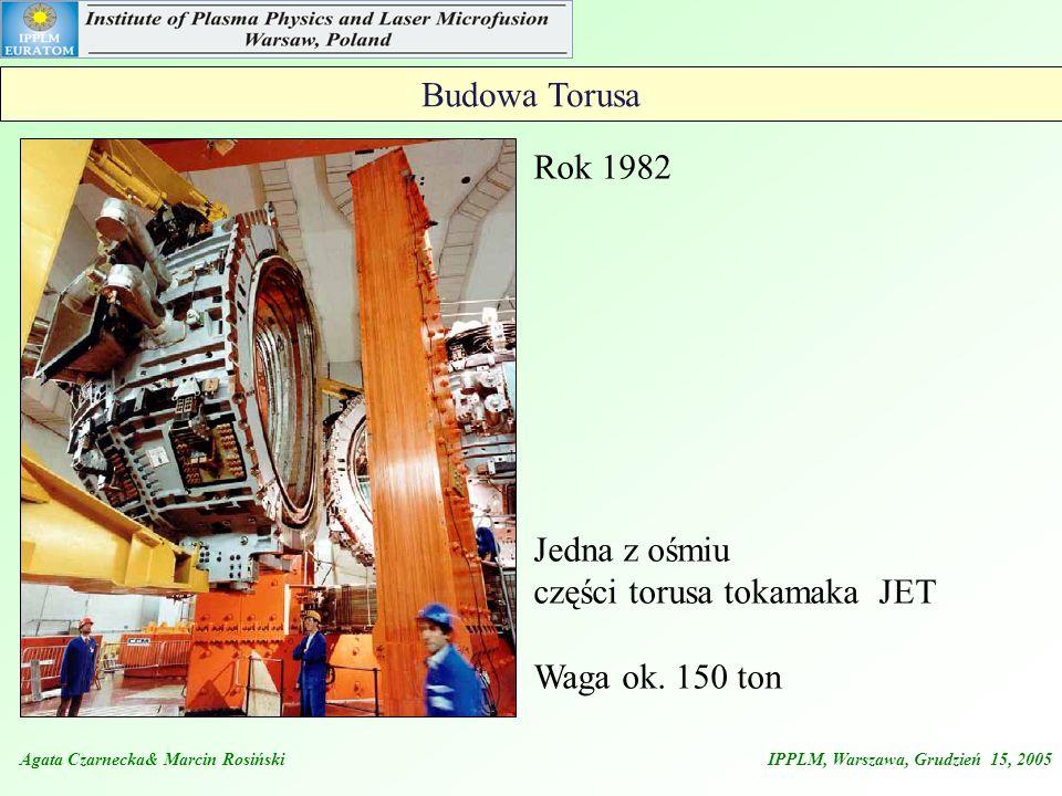 Przykładowe parametry wyładowania w tokamaku JET – 2 typy porównanie dwóch trybów pracy takamaka JET H mode Optimized mode Agata Czarnecka& Marcin Rosiński IPPLM, Warszawa, Grudzień 15, 2005