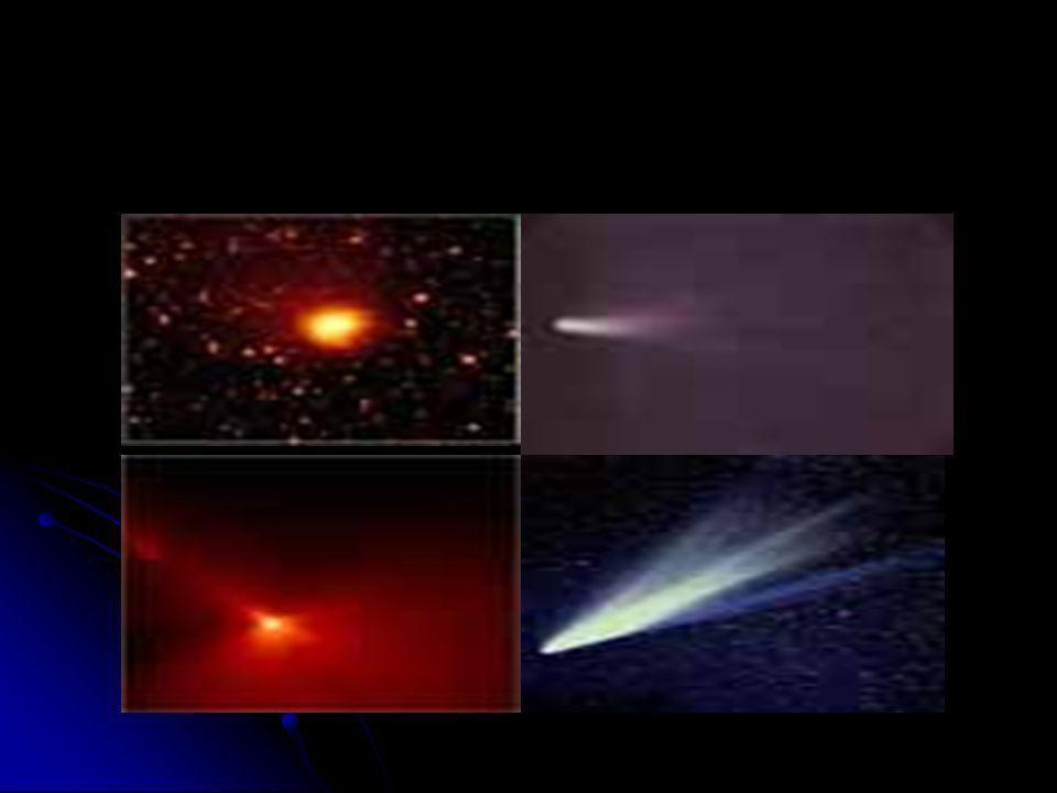 Komety Niezwykły wygląd komet już od najdawniejszych czasów wywoływał u ludzi zabobonny strach, widziano w nich zapowiedź zbliżających się klęsk i woj