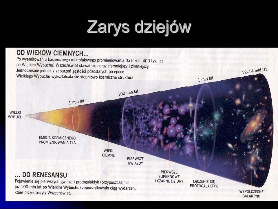 Powstanie wszechświata Panuje pogląd, że Wszechświat powstał wskutek potężnej eksplozji, tzw. Wielkiego Wybuchu, przed około 10-15 miliardów lat. Cała
