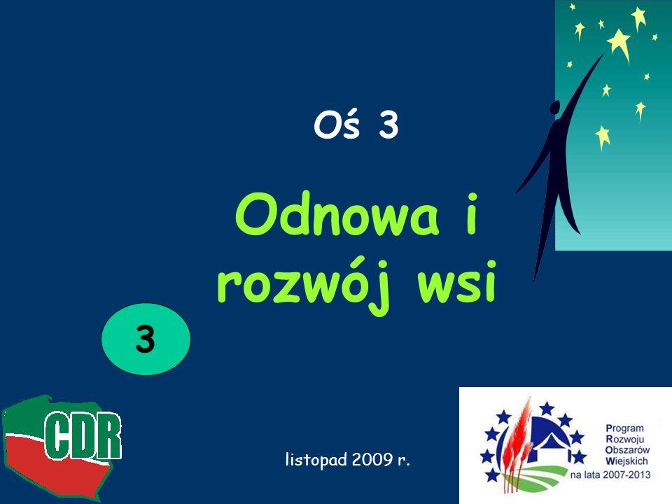 Odnowa i rozwój wsi NABÓR WNIOSKÓW_2009 rok