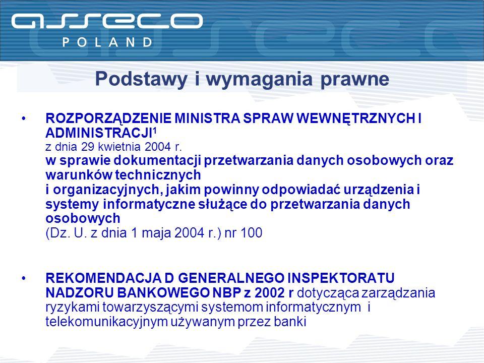 Zagadnienia szyfrowania danych oferowane przez Asseco Poland SA Systemy szyfrowania połączeń typu klient-serwer (połączenia SSH do systemu DefBank ) Systemy szyfrowania połączeń transmisji danych (VPN) Szyfrowanie danych wynoszonych z banku w postaci elektronicznej