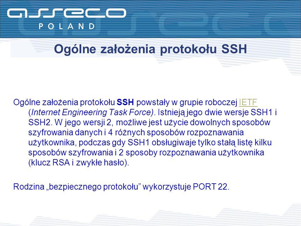 Elementy wdrożenia SSH w systemie DefBank SERWER – pakiet OpenSSH TERMINAL – oprogramowanie PUTTY PLIKI KONFIGURACYJNE SYSTEMU DEFBANK – oprogramowanie PUTTY