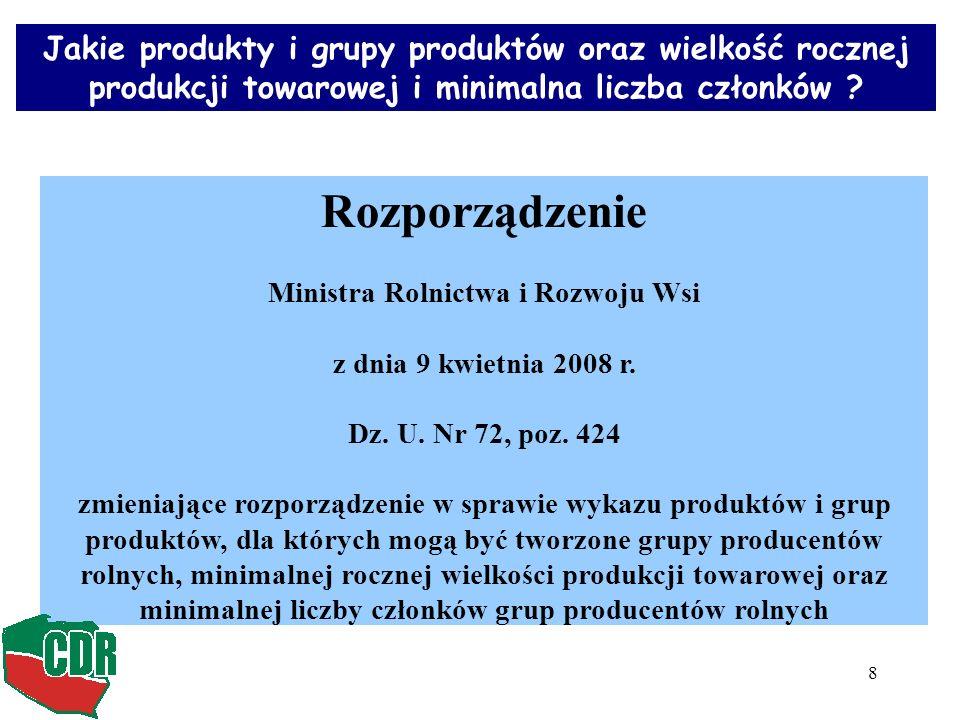 8 Rozporządzenie Ministra Rolnictwa i Rozwoju Wsi z dnia 9 kwietnia 2008 r.