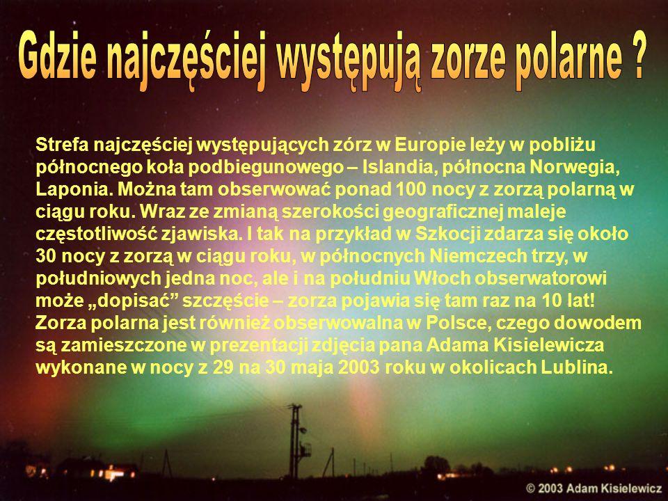 Najlepszym okresem dla obserwacji północnej zorzy polarnej jest luty - pojawia się ona wtedy niemal każdej nocy.