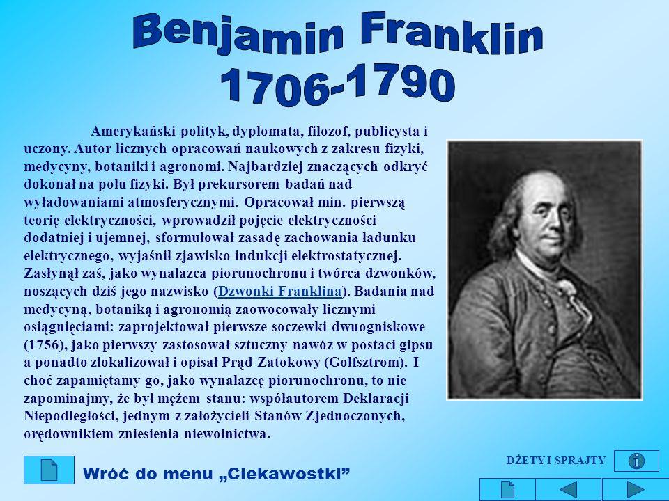 Amerykański polityk, dyplomata, filozof, publicysta i uczony. Autor licznych opracowań naukowych z zakresu fizyki, medycyny, botaniki i agronomi. Najb