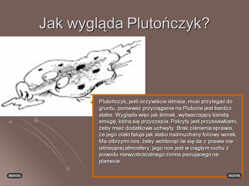 Struktura Powierzchnia Plutona i Charona zbudowana jest z zamarzniętego metanu, który paruje, gdy planeta zbliży się do Słońca, tworząc atmosferę. Pot