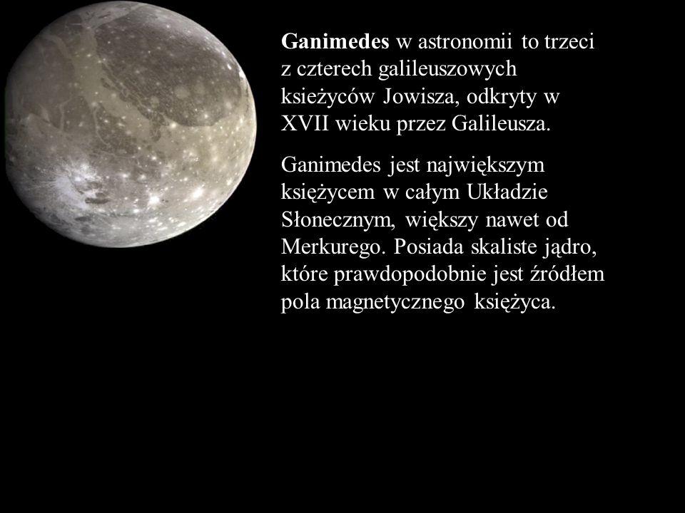 Ganimedes w astronomii to trzeci z czterech galileuszowych ksieżyców Jowisza, odkryty w XVII wieku przez Galileusza. Ganimedes jest największym księży