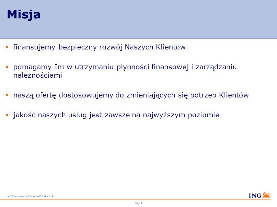 ING Commercial Finance Polska S.A. Slajd 8 Wyniki finansowe - obroty Z roku na rok ING Commercial Finance Polska notuje wysoki i stabilny wzrost w każ