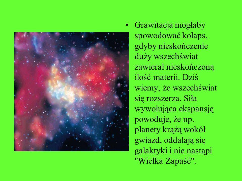 Rozwiązanie paradoksu Seeligera prowadzi do stwierdzenia, że wszechświat nie może być nieskończony. I tutaj pojawia się problem z siłami grawitacji, z