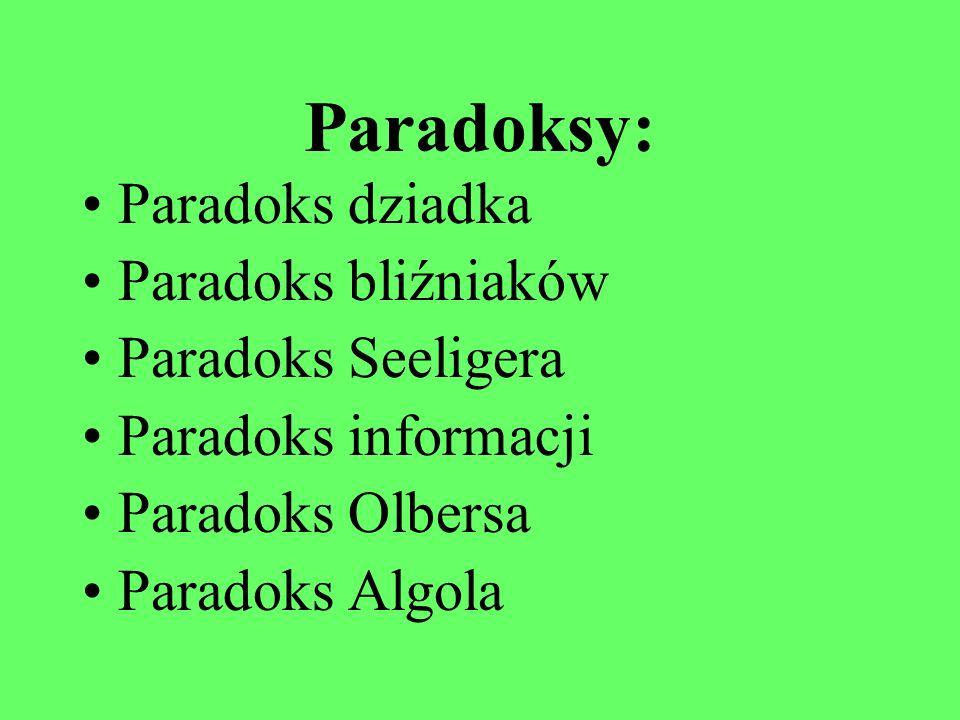 Paradoksy fizyczne Ania Borowska Dorota Czarnecka