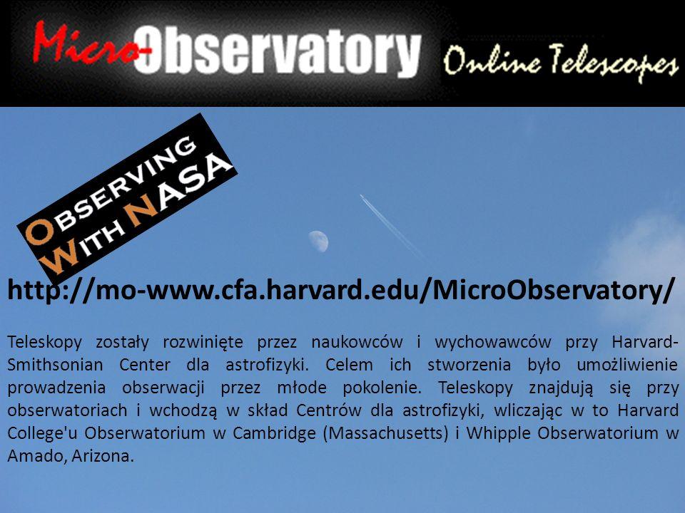 Teleskopy zostały rozwinięte przez naukowców i wychowawców przy Harvard- Smithsonian Center dla astrofizyki.