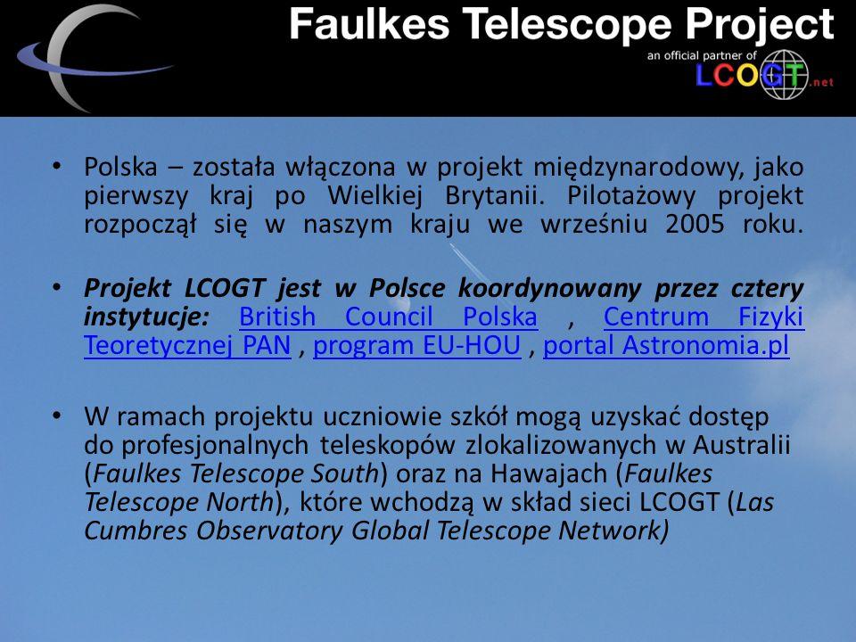 - płatny/bezpłatny - czas sesji - wybór obiektów - parametry naświetlania - otrzymanie zdjęcia - obróbka Dostęp –zagadnienia :
