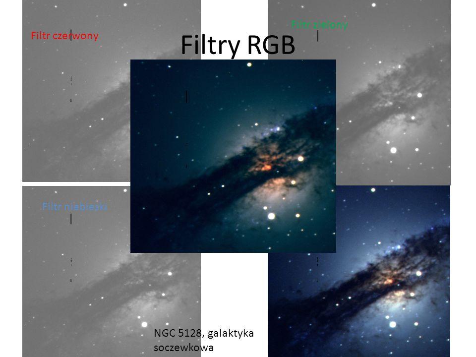 Filtr czerwony Filtry RGB Filtr niebieski Filtr zielony NGC 5128, galaktyka soczewkowa