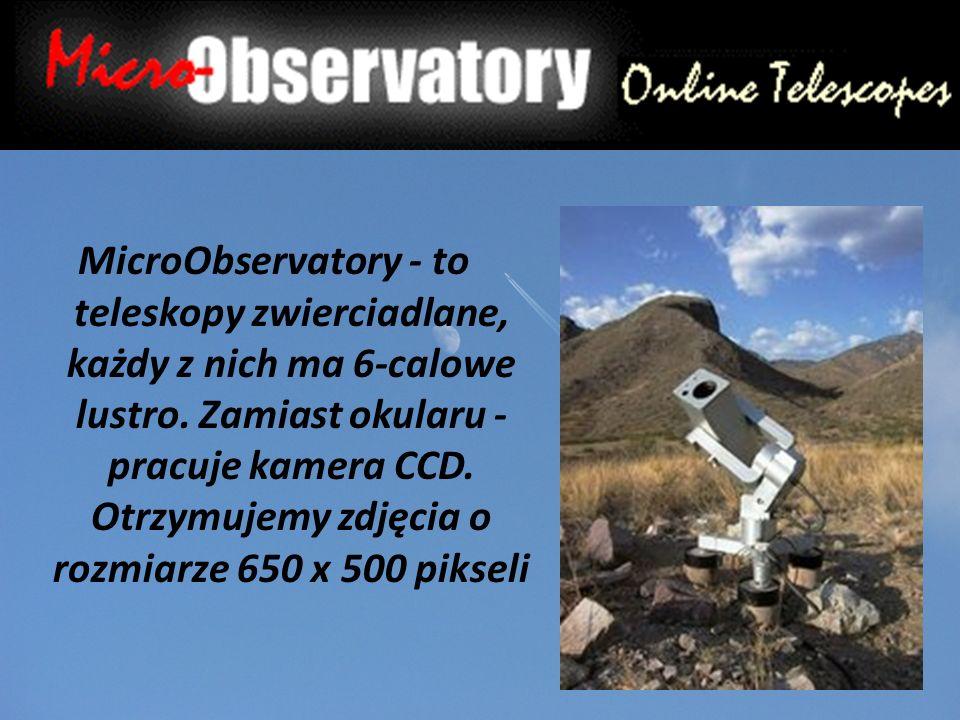 MicroObservatory - to teleskopy zwierciadlane, każdy z nich ma 6-calowe lustro.