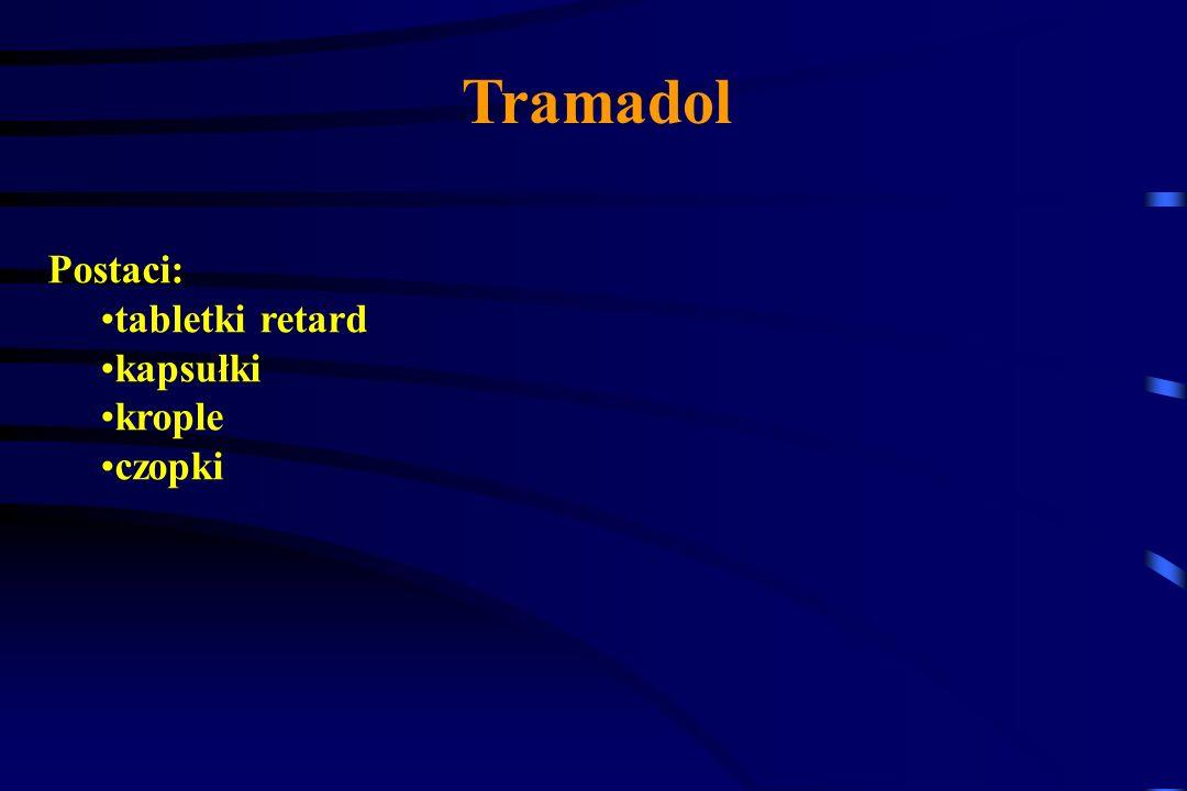 Tramadol Dzieki podwójnemu mechanizmowi działania zakres wskazań do stosowania Tramadolu jest szeroki- dotyczy bólu receptorowego i neuropatycznego.