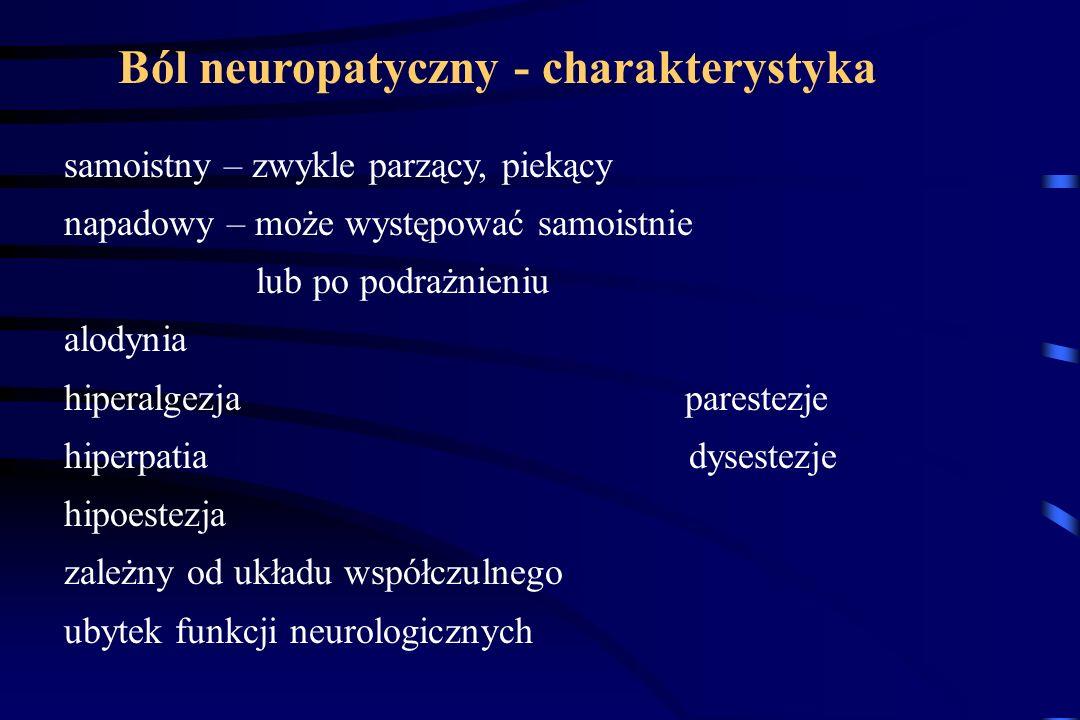 DRG SP EAA mGluR NK AMPA NMDA mGluR NK AMPA NMDA ekspresja genów Przewlekły ból neuropatyczny jest chorobą nadpobudliwych błon komórkowych neuronów, k