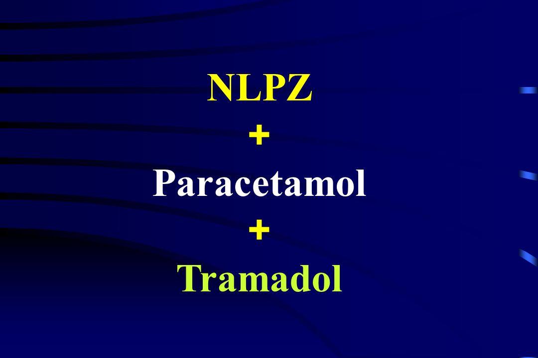 paracetamol Stosowany jako pojedynczy analgetyk Dawka skuteczna p.o.: 1 g co 4 godz. ( 6 g/dobę) (Schug i wsp., 1999) Stosowany łącznie z NLPZ Dawka s